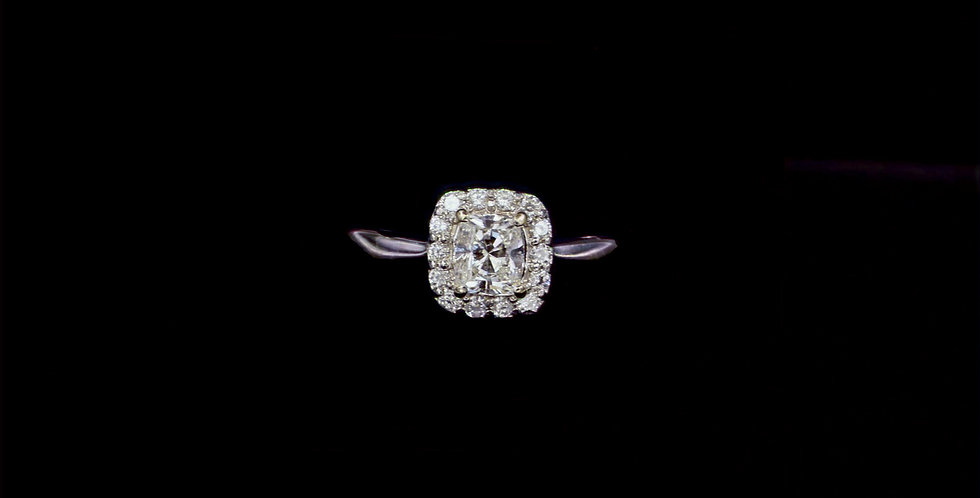18K .75ct Radiant Cut Diamond Ring