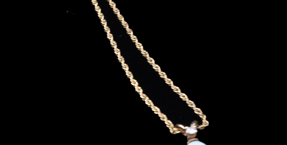 14k Yellow Gold Vintage Opal Necklace