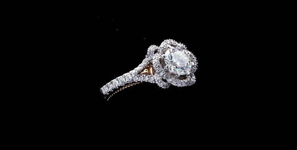 18K White and Rose Gold Diamond Ring