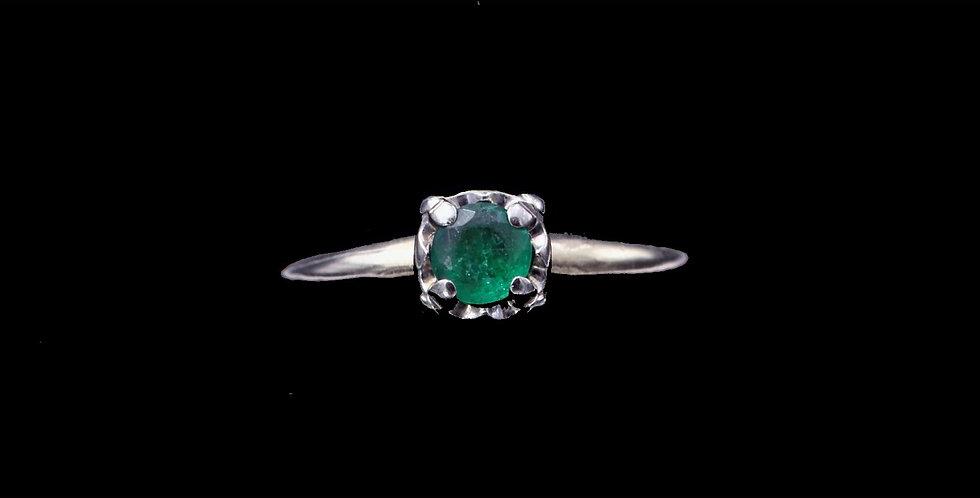 14K Yellow Gold Vintage Emerald Ring