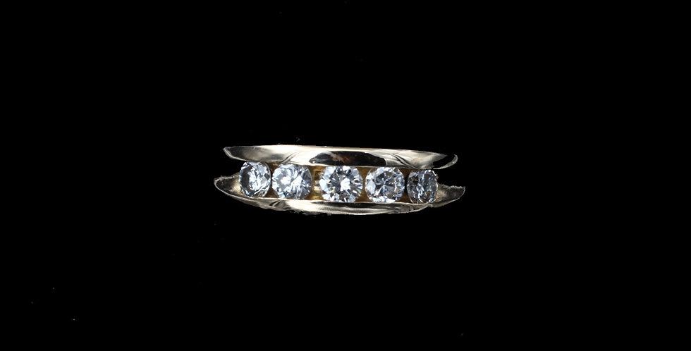 14K Yellow Gold .75 Carat Total Weight Diamond Ring