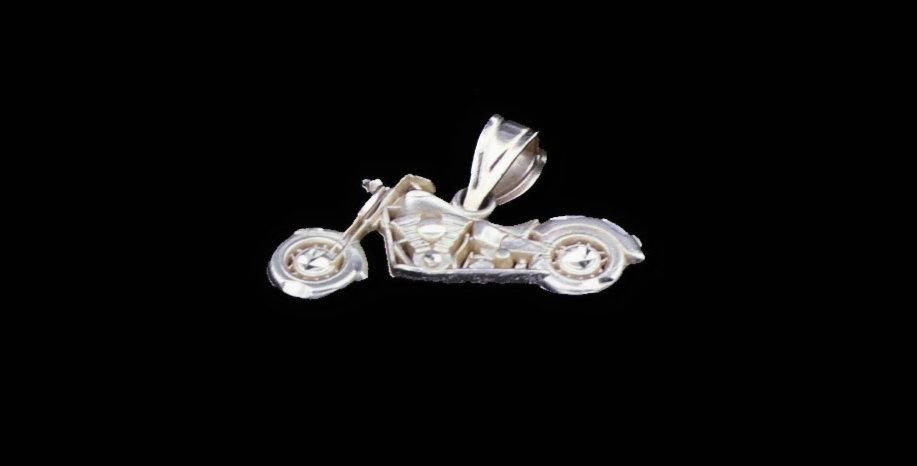 14K Motorcycle Pendant