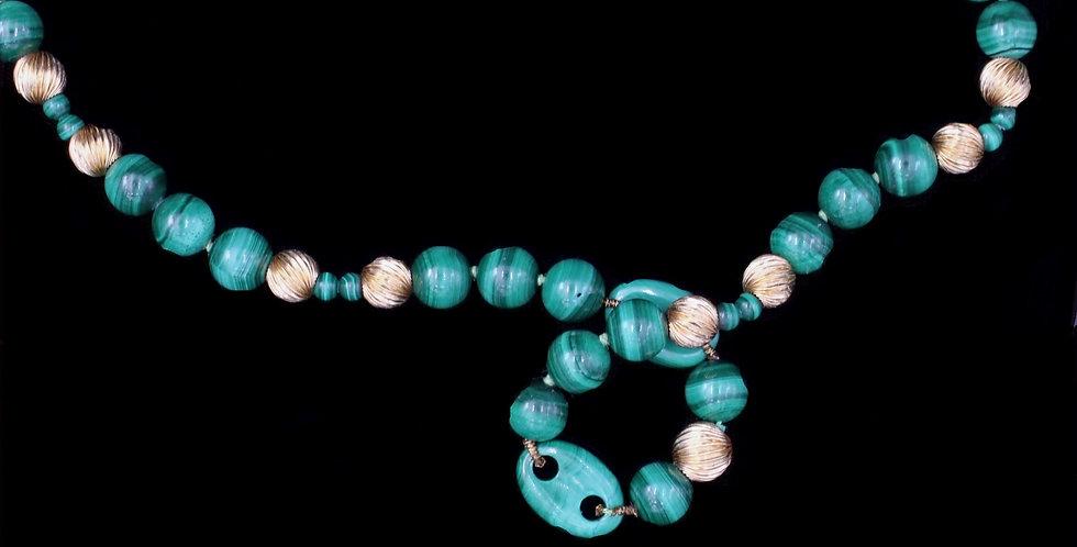 14K Malachite Necklace