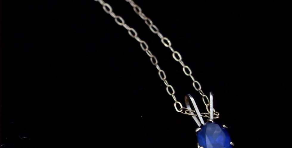 10K Yellow Gold Sapphire Necklace