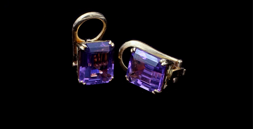 18K Amethyst Earrings