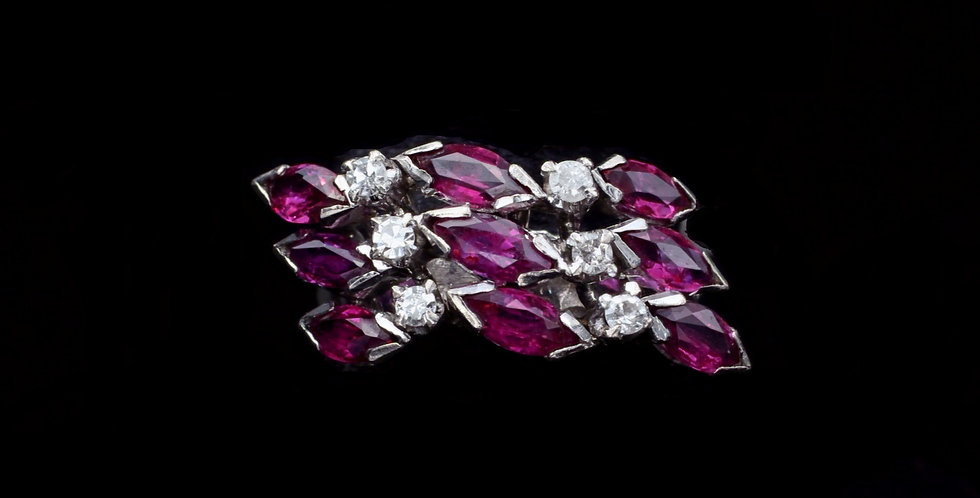 14K Vintage Ruby & Diamond Ring