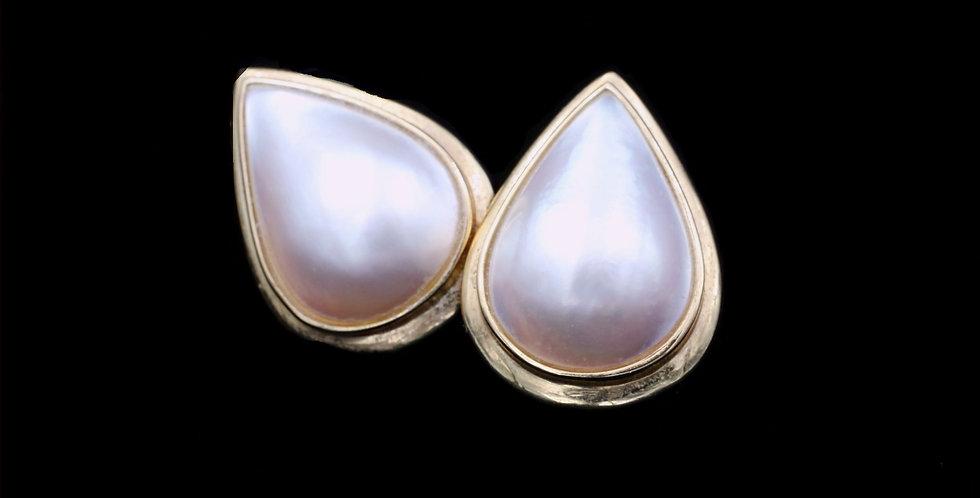 14K Mabe Pearl Earrings