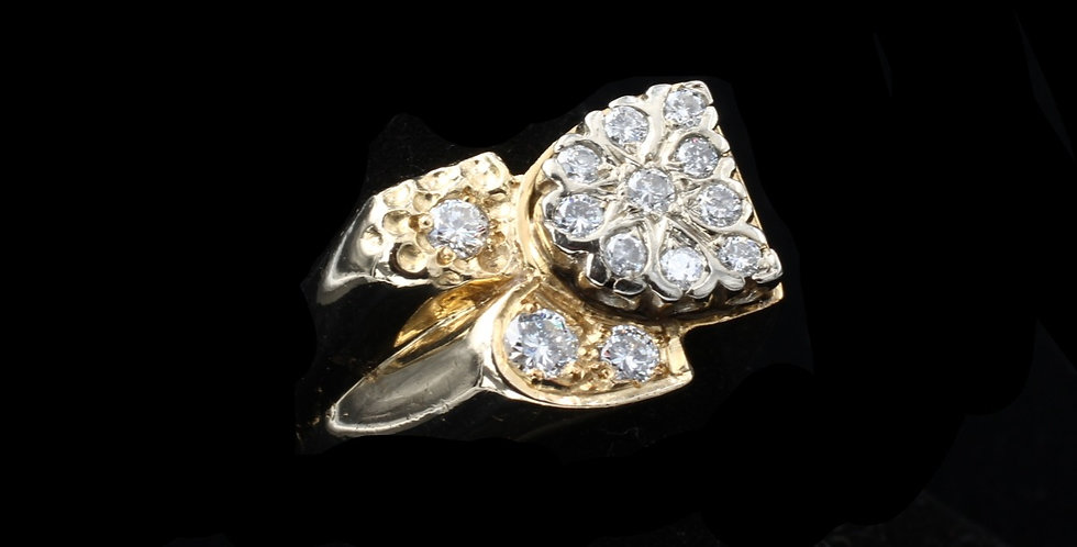 14K Yellow Gold Vintage 1.00 Carat Diamond Ring