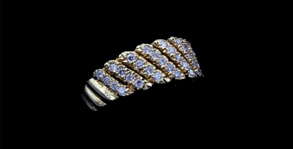 18K Cartier .75 Carat Total Weight Diamond Ring or Band