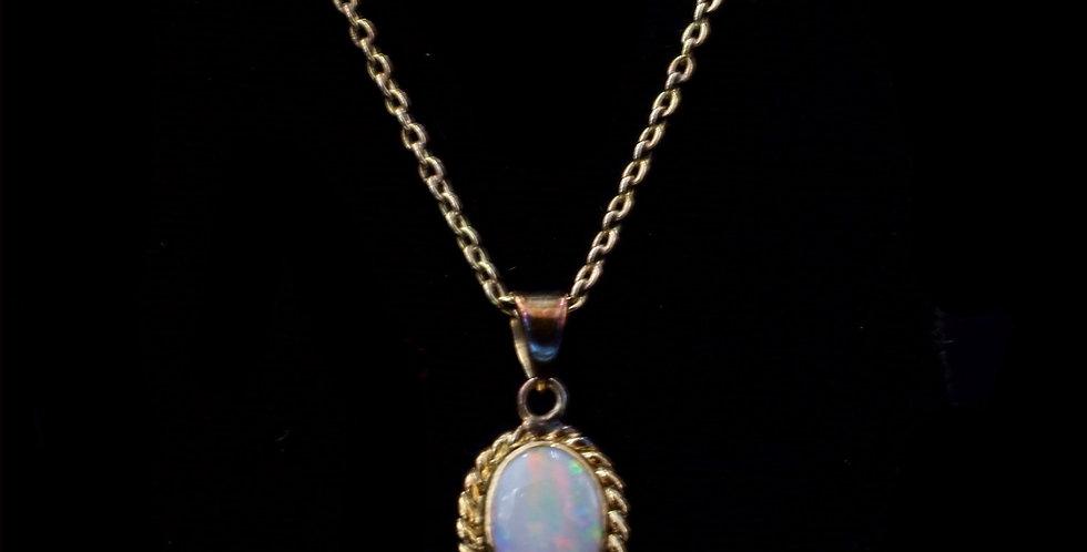 10K & 14K Opal Necklace