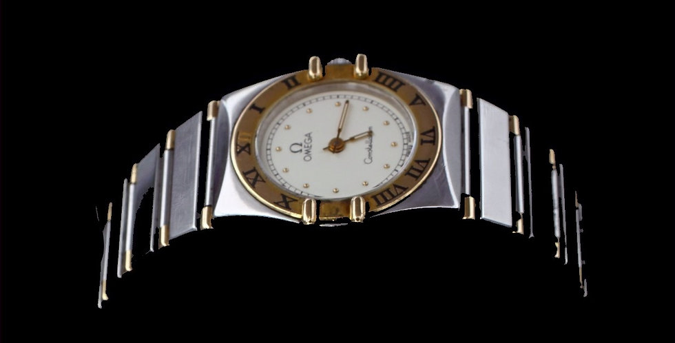Omega Constellation Watch Stainless Steel with Yellow Gold Accents