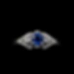 14K Diamond & Sapphire Ring