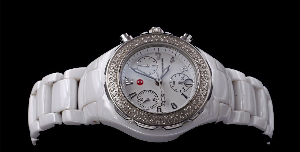 Michele Watch Ceramic with Diamonds