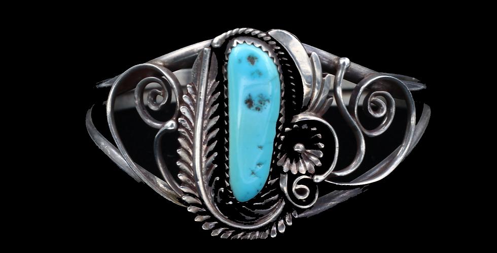 Large Silver Turquoise Cuff Bracele