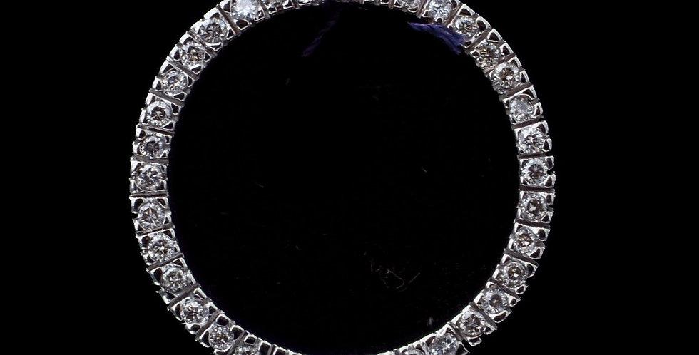 10K White Gold .50 Carat Total Weight Diamond Pendant