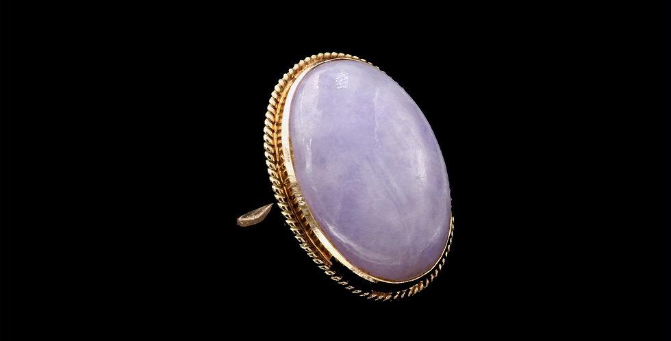 14K Yellow Gold Vintage Jade Ring