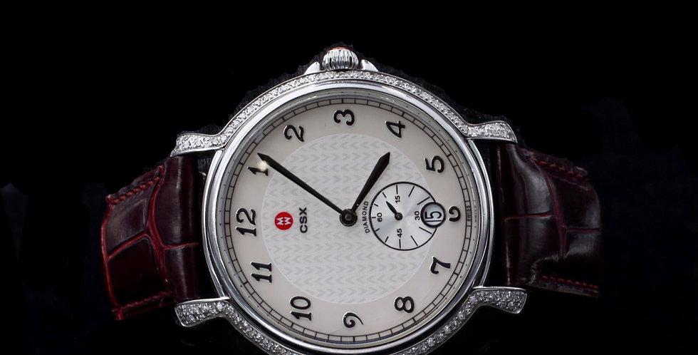 Michele .55 Carat Diamond Quartz watch with Band