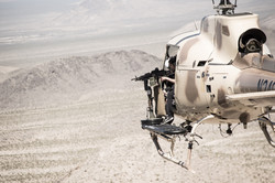 Shoot Guns out of a helicopter