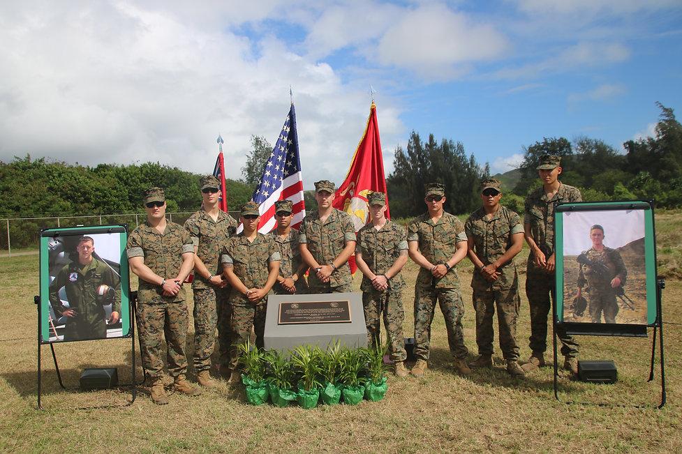 Osprey survivors at memorial dedication