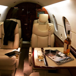 Arrive by private jet