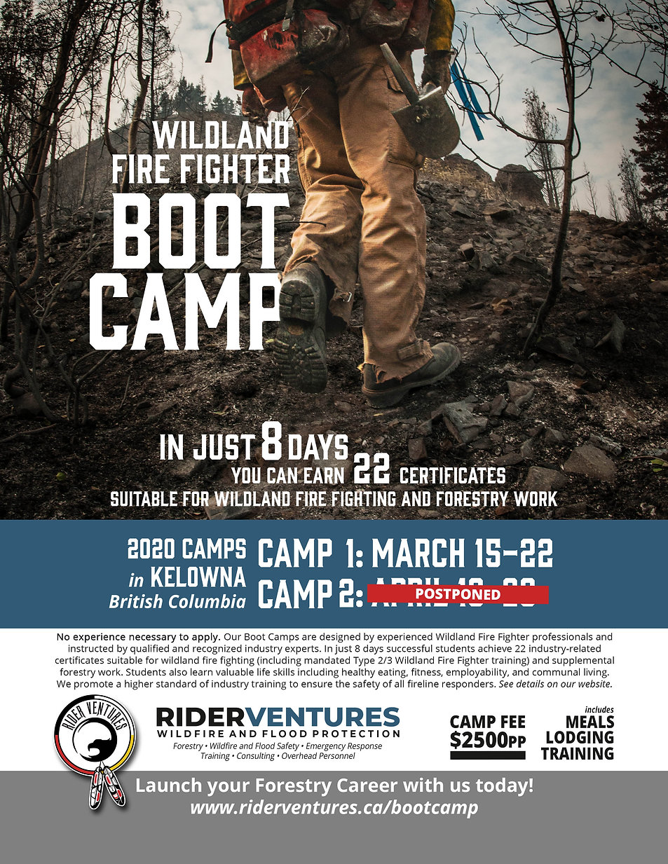 2020 BootCamp Poster Camp 2 Postponed.jp