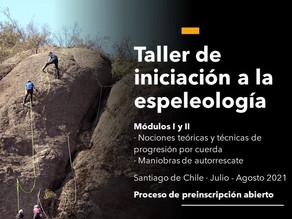 Taller de iniciación a la espeleología 2021 · Módulos I y II