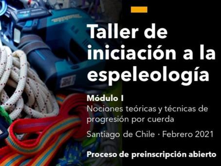 Taller de iniciación a la espeleología 2021 · Módulo I