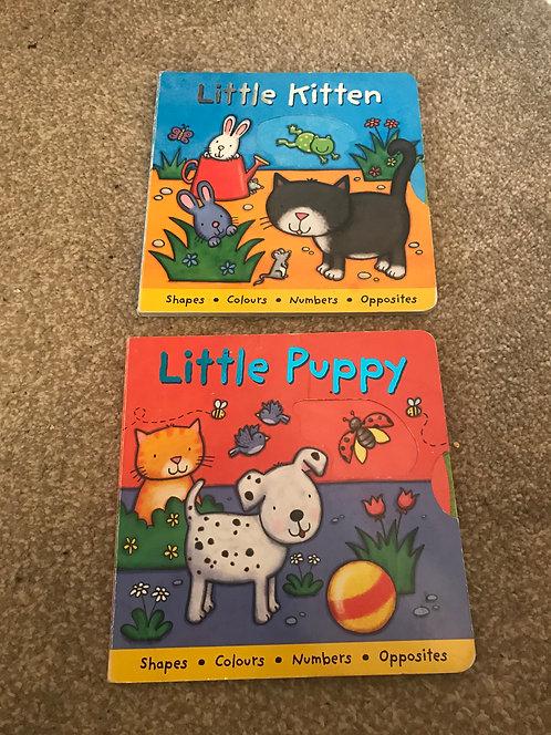 Little kitten & little puppy baby/toddler books