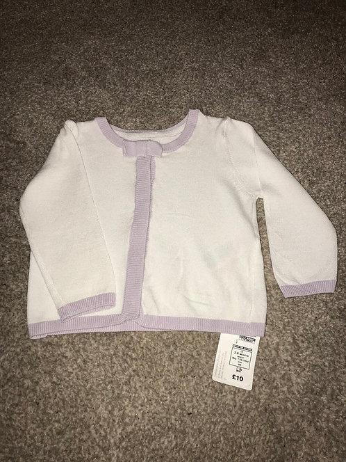 BNWT - size 3/6 months m&s cardigan