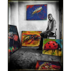 A snapshot from my studio. Insect series.