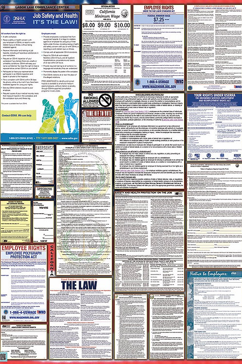 State and Federal Labor Law Poster