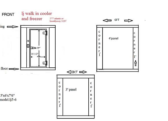 Walk in cooler Model 5-6