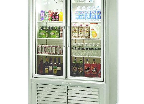 """48"""" soda case puling glass door cooler"""