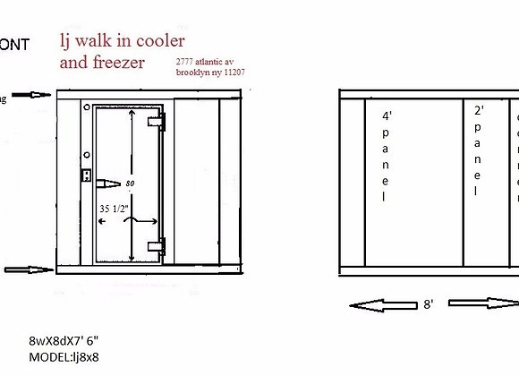 Walk in cooler Model 8-8