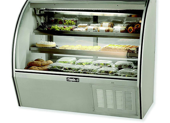 Curved high deli case 48""
