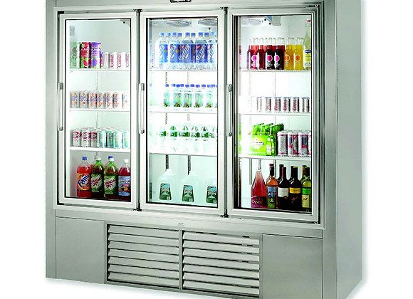 "79""soda case whith pulling glass door cooler"