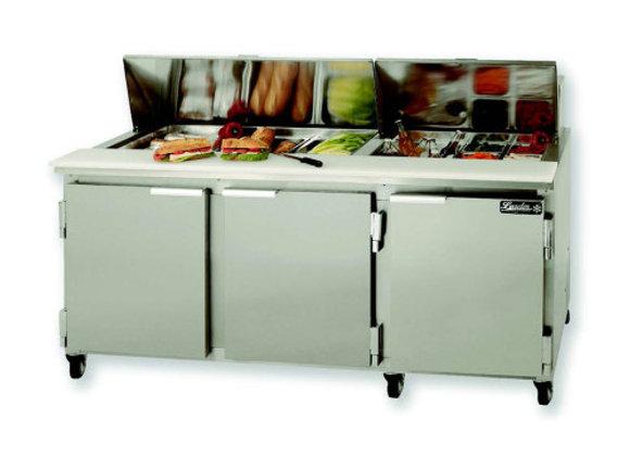 "leader Sandwich Prep Refrigerator 72"""