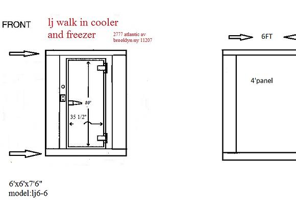 Walk in cooler Model 6-6