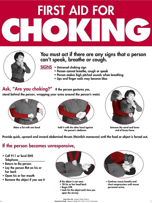 First Aid for Choking Poster (Large)