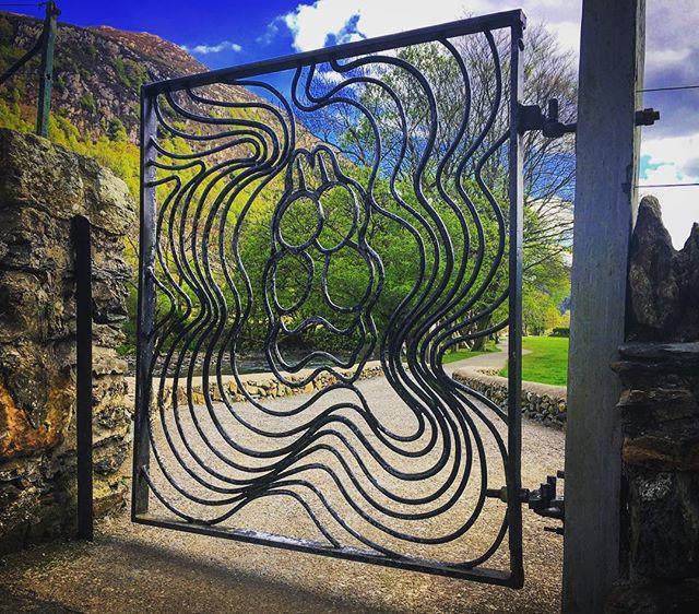 The stunning gate leading to Gelert's gr