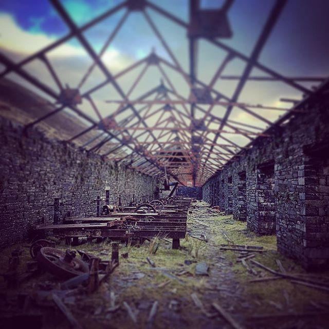 Slate saw mill #slate #quarry #mountains