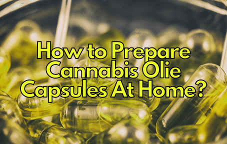 How to Prepare Cannabis Olie Capsules At Home?