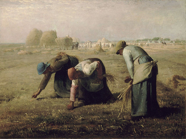 Jean-François Millet – Gleaners: This is a faithful photographic reproduction of a two-dimensional, public domain work of art. The work of art itself is in the public domain