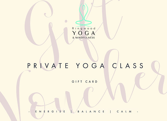 Gift voucher for private yoga tuition