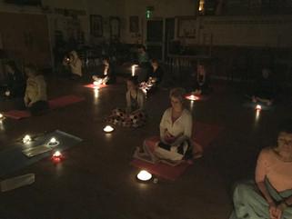 Christmas Yoga and Candlelight meditation raised £130 for Crisis at Christmas!