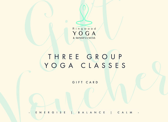Gift voucher for three group classes