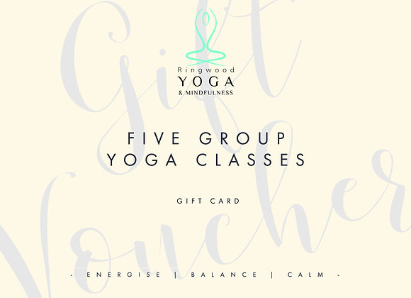 Gift voucher for five group classes
