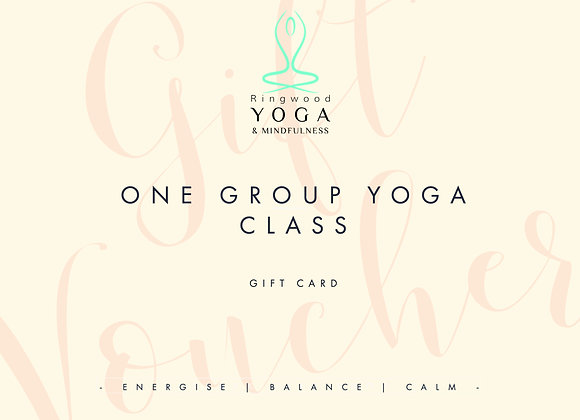 Gift voucher for one group class
