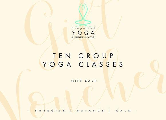 Gift voucher for ten group classes