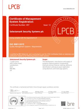 SelectaDNA LPCB Certificate